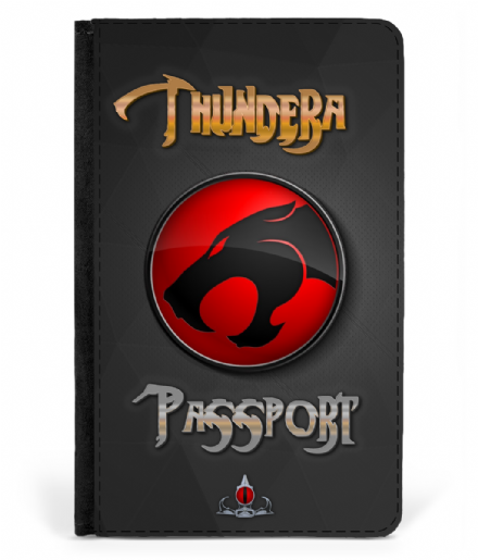 Thundera Faux Leather Passport Cover Protector Inspired By Thundercats